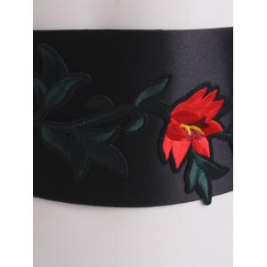Chinoiserie Banded Retro Blossom Corset Brodé Belt - Rouge