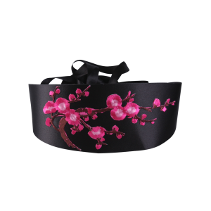 Chinoiserie Banded Retro Blossom Embroidered Corset Belt