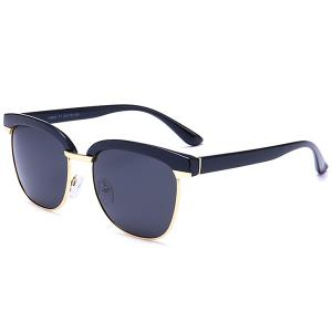 UV Protection Metal Frame Spliced Sunglasses