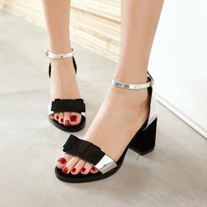 Bow Color Block Sandals -