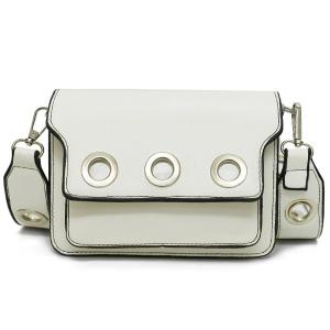 Wide Strap Eyelets Cross Body Bag