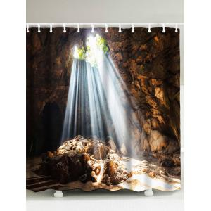 Waterproof Natural Cave Mountain Design Shower Curtain