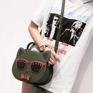 Cartoon Cat Shaped Cross Body Handbag -