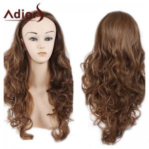 Adiors Long Big Wave Heat Resistant Synthetic Wig - Light Brown - 26inch