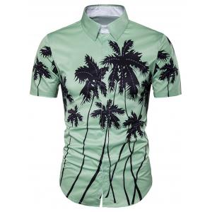 Copie d'impression de cocotier Placket Hawaiian Shirt
