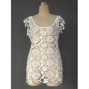 Floral Lace Crochet Cover Up Dress -