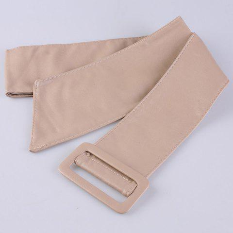Outfits ArtificialLeather Adjustable Wide Waist Belt - KHAKI  Mobile