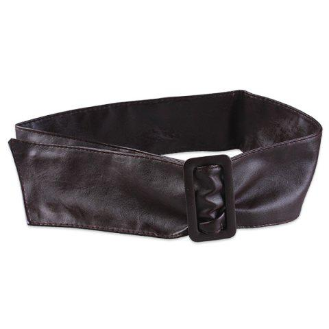Store ArtificialLeather Adjustable Wide Waist Belt