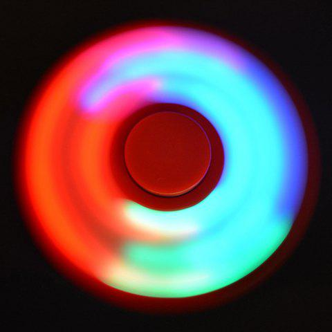 Rotating Fidget Finger Spinner with Color Changing LED Lights - RED