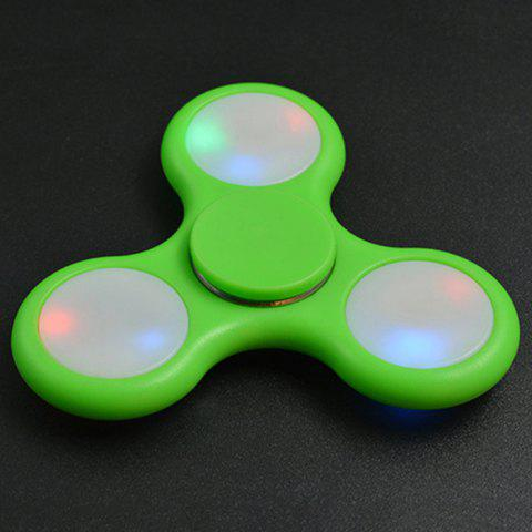 Chic Rotating Fidget Finger Spinner with Color Changing LED Lights GREEN