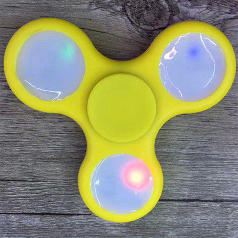 Affordable Rotating Fidget Finger Spinner with Color Changing LED Lights - YELLOW  Mobile