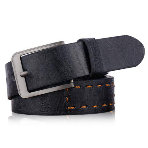 Hot Hot Stamped Artificial Leather Letter Belt - BLACK  Mobile