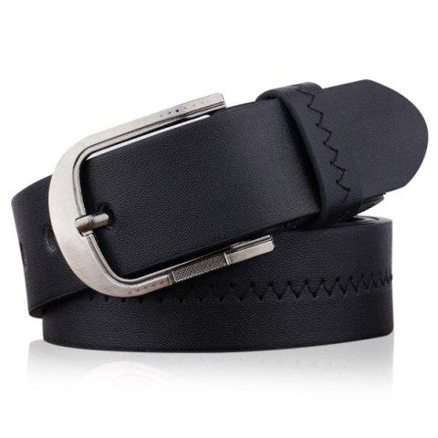 Fashion Embroidered Fake Leather Pin Buckle Belt
