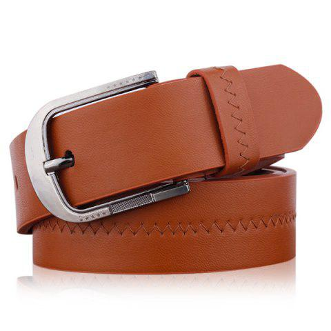 Affordable Embroidered Fake Leather Pin Buckle Belt
