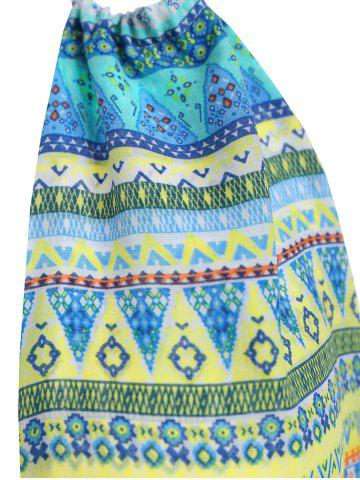 Affordable Tribal Print Backless Halter Casual Mini Dress - S COLORMIX Mobile