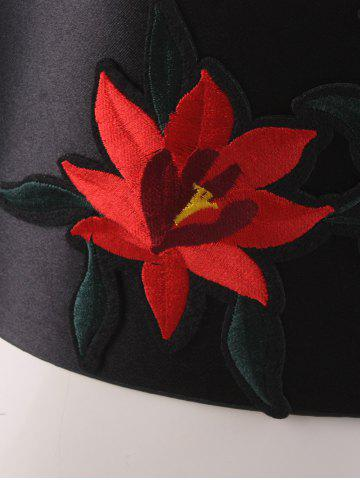 Discount Chinoiserie Banded Retro Blossom Embroidered Corset Belt - RED  Mobile