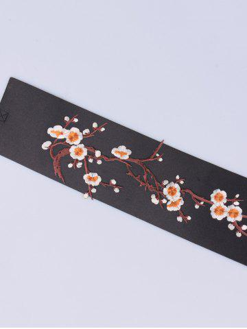 Shop Banded Flowers Branch Embroidered Chinoiserie Corset Belt - ORANGE  Mobile