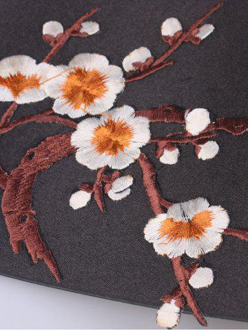 Best Banded Flowers Branch Embroidered Chinoiserie Corset Belt - ORANGE  Mobile