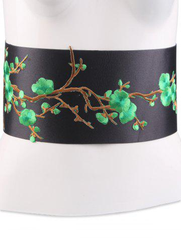 Shop Banded Flowers Branch Embroidered Chinoiserie Corset Belt