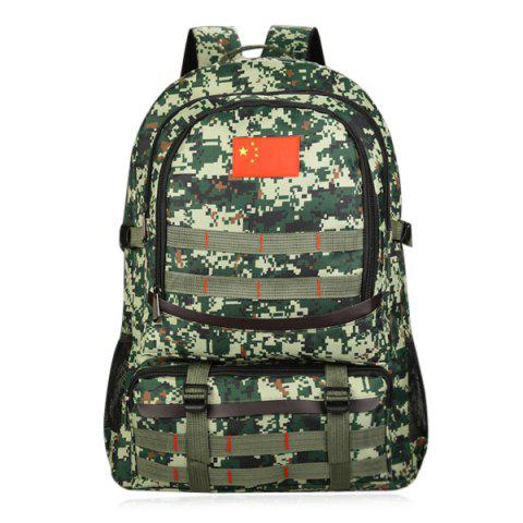 Fashion Mesh Panel Buckle Straps Outdoor Backpack - CAMOUFLAGE  Mobile