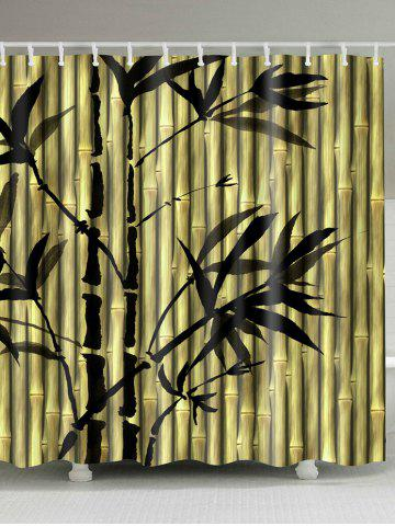 Yellow Green W71inch * L71inch Chinese Ink Painting Bamboo Print ...
