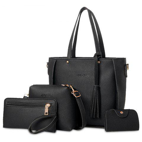 deb31a152d97 Tassel 4 Pieces Tote Bag Set