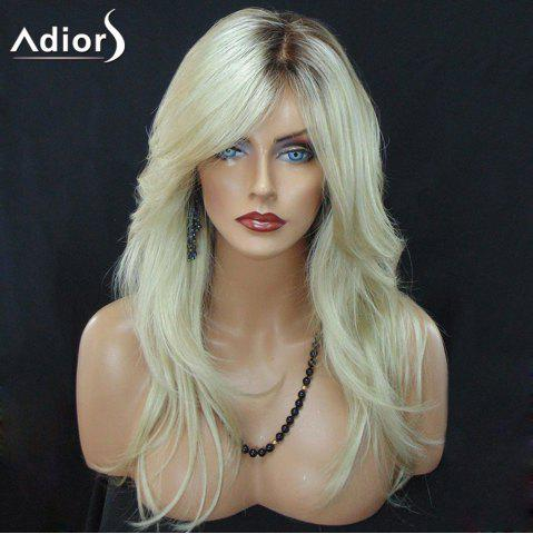 New Adiors Long Side Part Colormix Slightly Curled Synthetic Wig