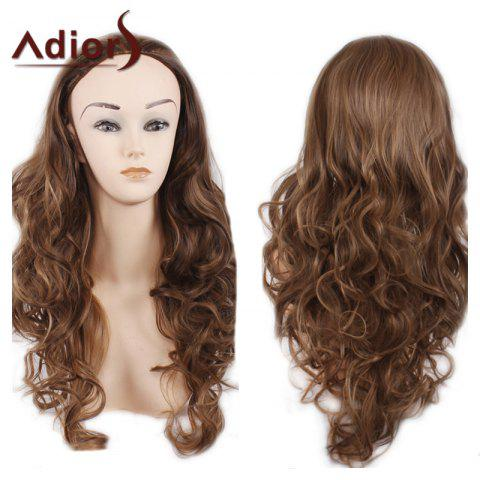 Adiors Long Big Wave Heat Resistant Synthetic Wig - Light Brown - 14inch