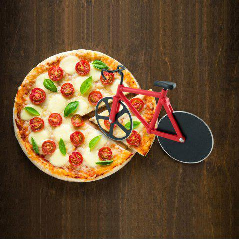 Fashion Stainless Steel Bicycle Design Pizza Cutter - RED  Mobile