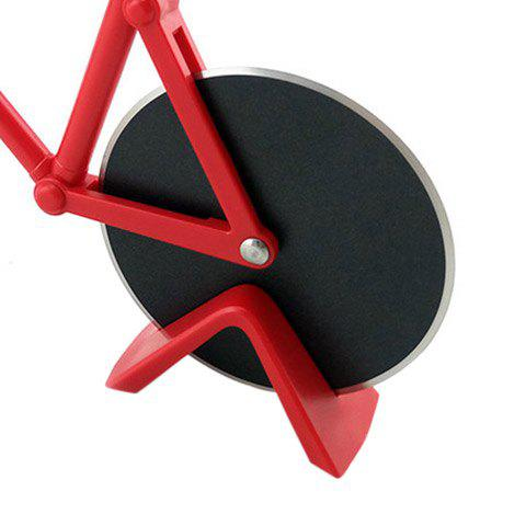 New Stainless Steel Bicycle Design Pizza Cutter - RED  Mobile