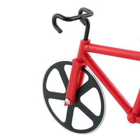 Outfits Stainless Steel Bicycle Design Pizza Cutter - RED  Mobile