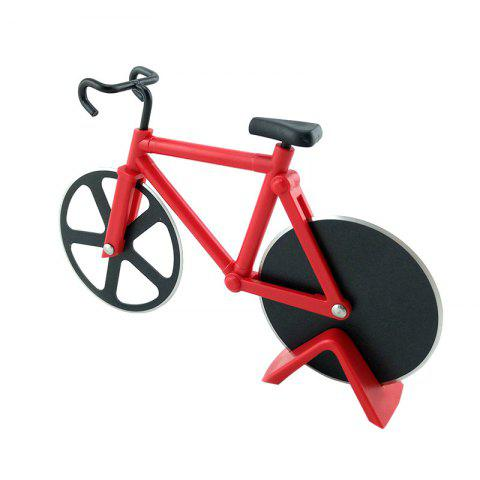 Latest Stainless Steel Bicycle Design Pizza Cutter - RED  Mobile