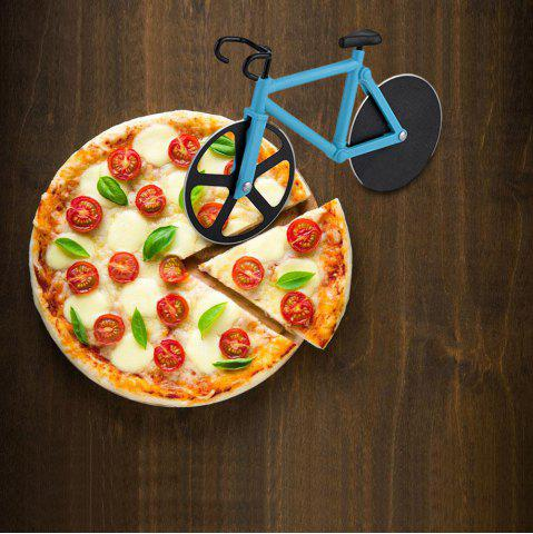 Outfits Stainless Steel Bicycle Design Pizza Cutter - LAKE BLUE  Mobile