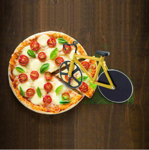Latest Stainless Steel Bicycle Design Pizza Cutter DEEP YELLOW