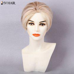 Siv Hair Short Pixie Layered Colormix Straight Human Hair Wig