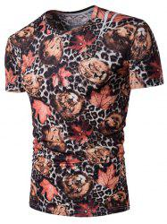 Animal Leopard Print Stretch T-Shirt
