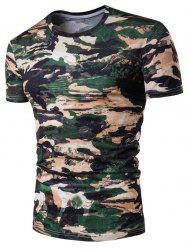 Camo Print Star Short Sleeve T-Shirt