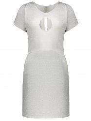Tight Keyhole Neck Cut Out Fitted Dress