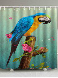 Unique Parrot Printed Fabric Shower Curtain