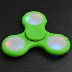 Rotating Fidget Finger Spinner with Color Changing LED Lights - GREEN