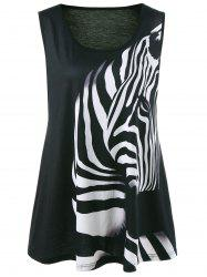 Zebra Animal Printed Plus Size Tank Top