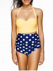 Polka Dot Underwire High Waist Retro Bikini