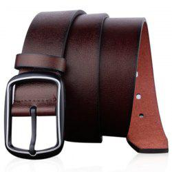 Faux Leather Rectangular Pin Buckle Belt