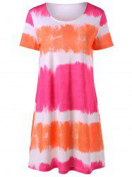 Tie Dye Mini T-Shirt Dress