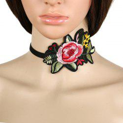 Chinese Style Flower Embroidery Choker