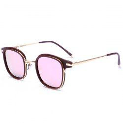 Reflective Mirrored Metallic Frame Splicing Sunglasses