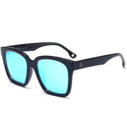 Reflective Wide Frame Mirrored Wayfarer Sunglasses