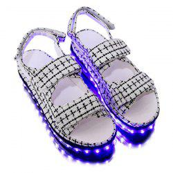 Plaid Led Luminou Sandals