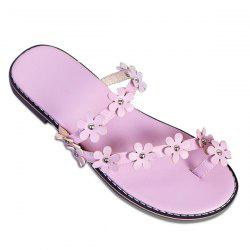 Toe Ring Flowers Slippers
