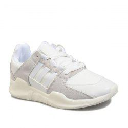 Suede Elastic Band Athletic Shoes - WHITE